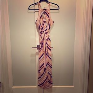 NEW w tags Maurice's striped keyhole dress w belt